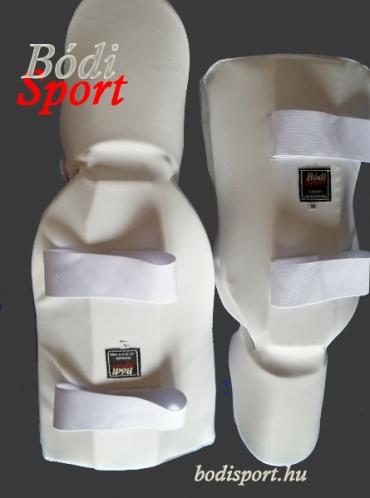 Lábfejes lábszárvédő elasztikus ecobőr,  fehér